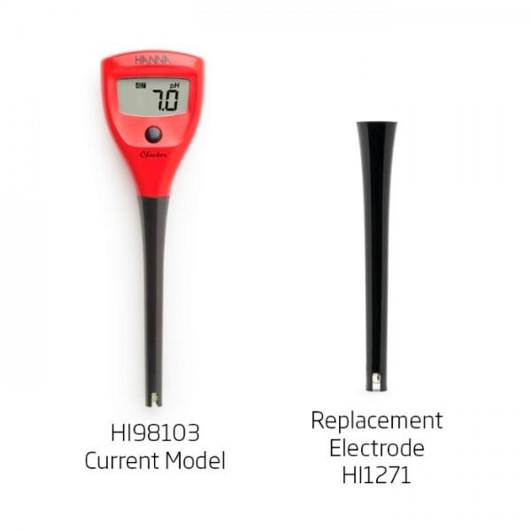 Electrodo de pH de Repuesto para HI98100 HI1271 Hanna