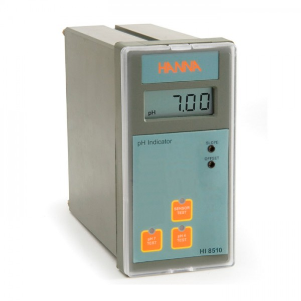 Indicador analógico de pH montado en panel con prueba de autodiagnóstico HI8510 Hanna