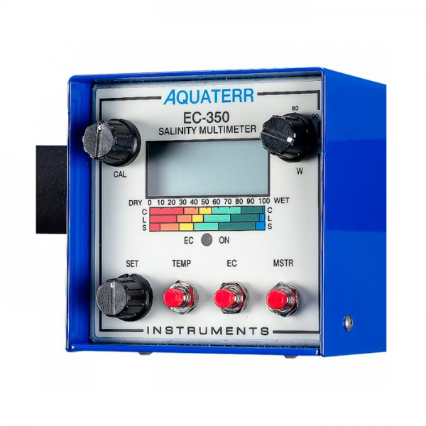 Medidor Digital de Humedad, Temperatura y Salinidad  de suelo Aquaterr EC-350 ICT International
