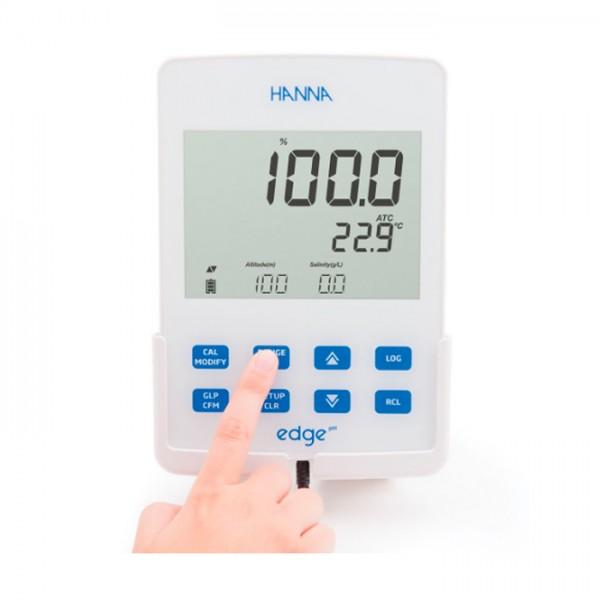 Medidor de Oxígeno Disuelto Edge® Dedicated HI2004-01 Hanna