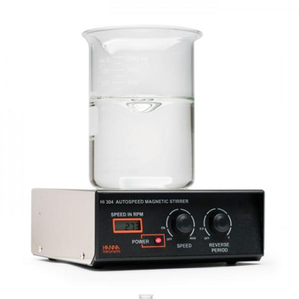 Mini Agitador de Tapa de Acero Inoxidable con Tacómetro (2.5L) HI304N-1 Hanna