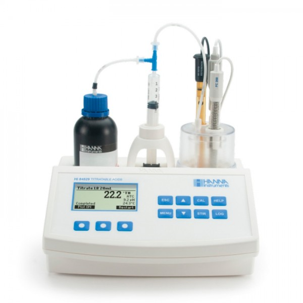 Mini Titulador para medir la Acidez titulable en productos lácteos HI84529U-01 Hanna