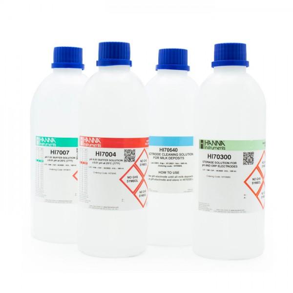 Paquete de Calibración para leche HI547-162 Hanna