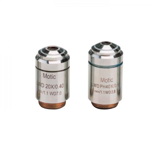 Objetivos PLAN/ PHASE LWD para Microscopios Motic