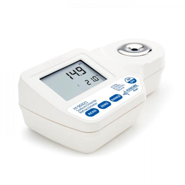 Refractómetro Digital para medir el cloruro de sodio en los alimentos HI96821 Hanna