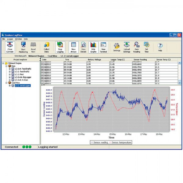 Software LogView 8001-3 Geokon