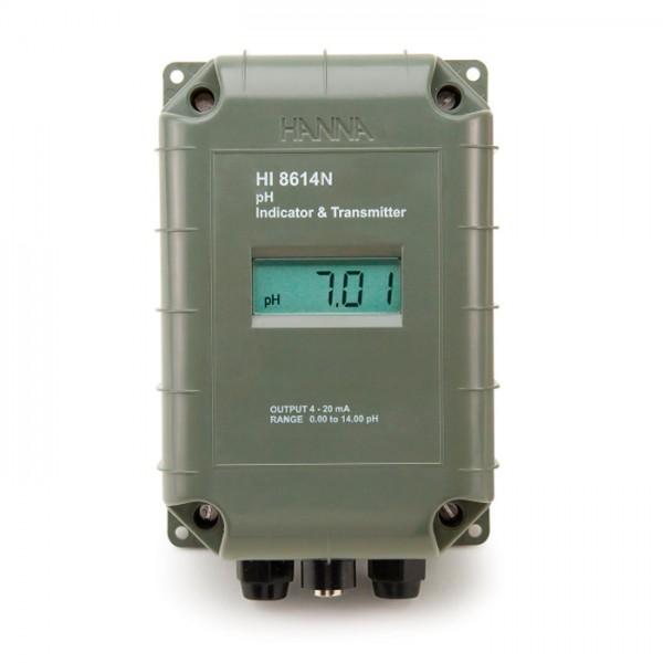 Transmisor de pH con salida aislada galvánica de 4-20 mA HI8614 Hanna