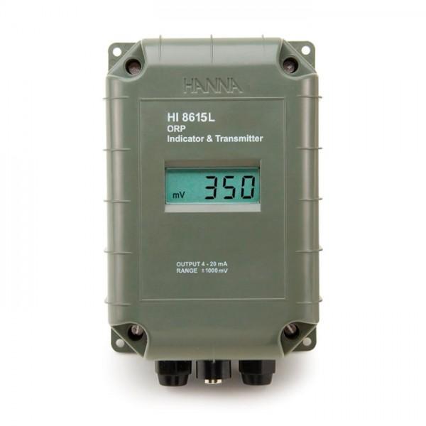 Transmisor ORP con salida aislada galvánica de 4-20 mA HI8615 Hanna