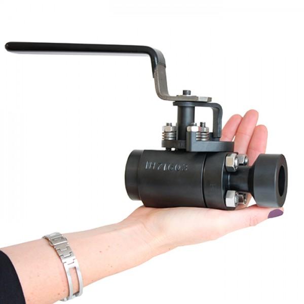 Válvula de Bola con Asiento Metálico V1-1 Diseño Compacto y Liviano Serie V ValvTechnologies